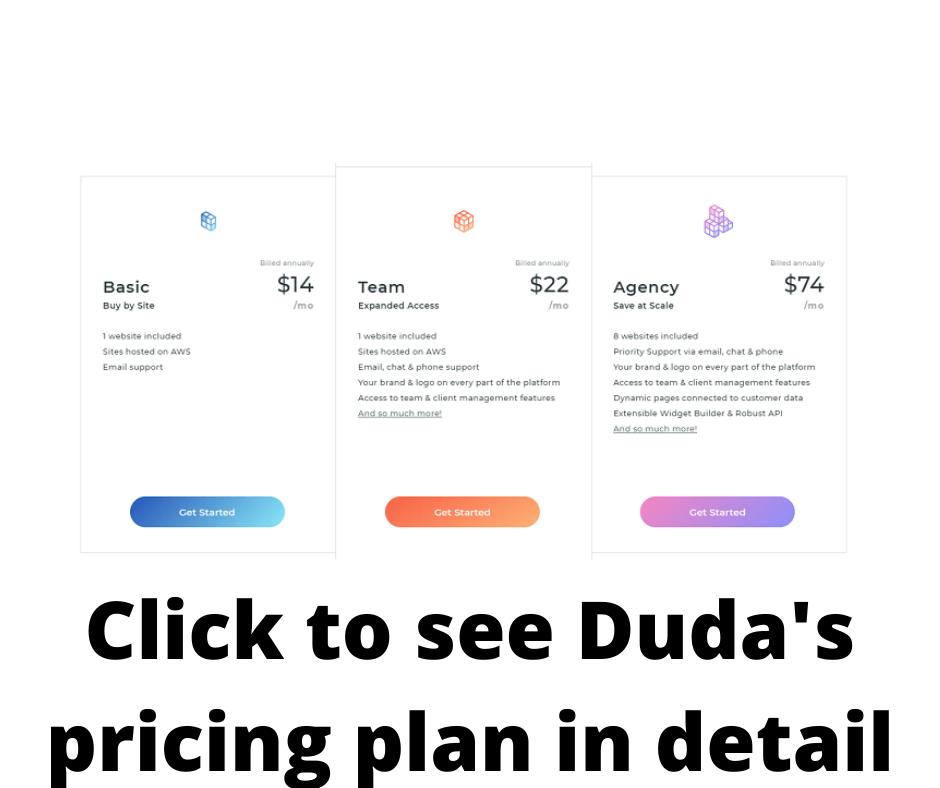 duda pricing